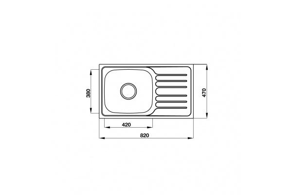 Chậu Hafele Inox Claudius HS-SSD8247