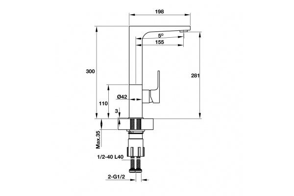 Vòi bếp Hafele Titus HT-C281