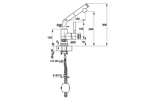 Vòi bếp Hafele Titus HT-C240