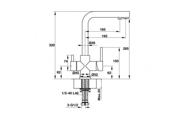 Vòi bếp Hafele Marcus HT-C285