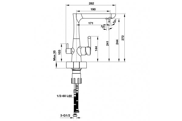 Vòi bếp Hafele Marcus HT-C244