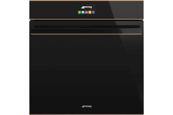 Lò nướng SMEG, nhiệt phân, 60cm, DOLCE STIL NOVO, màu hoàn thiện: đen & đồng SFP6604NRE