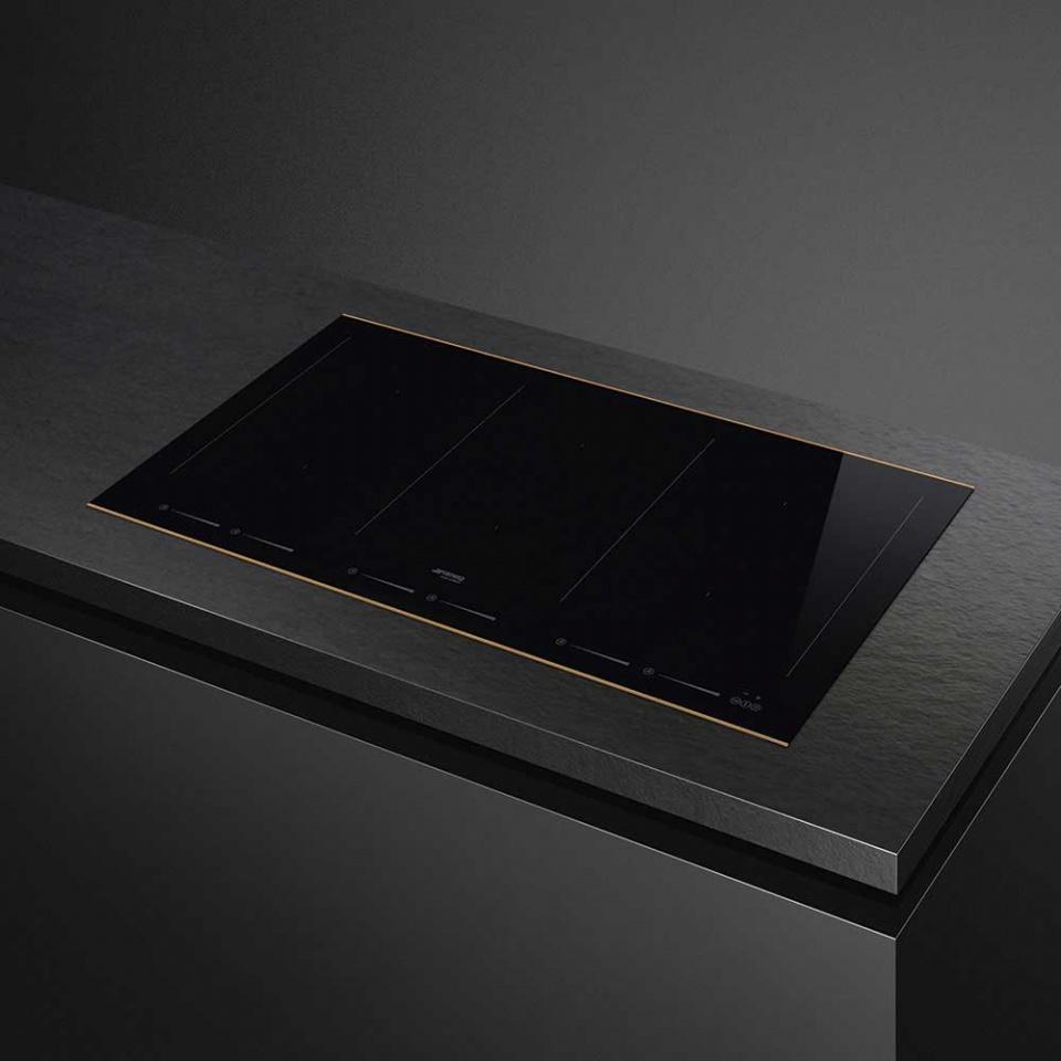 Bếp từ SMEG, 90cm, cảm ứng, SIM693WLDR