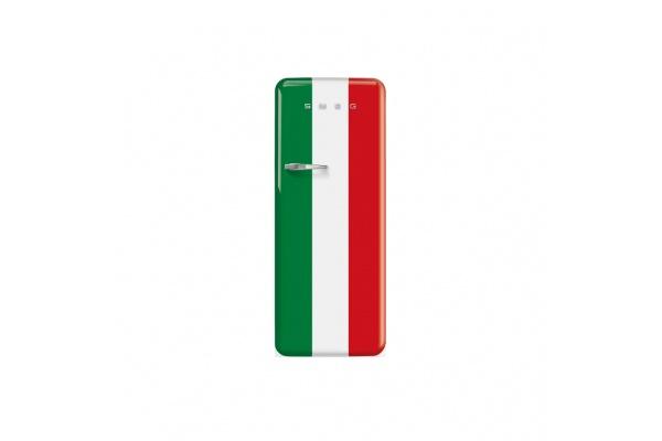 TỦ LẠNH SMEG QUỐC KỲ Ý, CỬA ĐƠN, ĐỘC LẬP, CỬA MỞ PHẢI, 50'S STYLE FAB28RDIT3